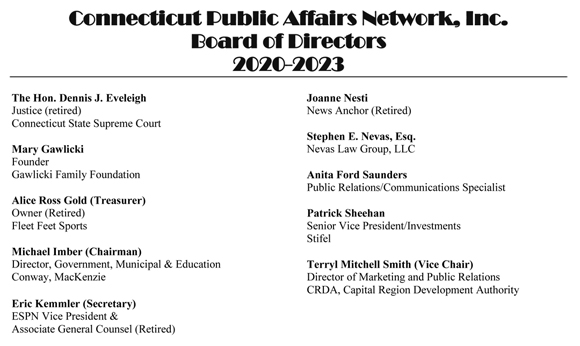 This picture shows a list of the CPAN board members.