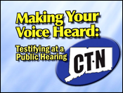 Making Your Voice Heard: Testifying at a Public Hearing